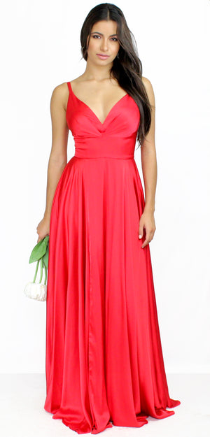Always on Point Satin Bridesmaid Gown