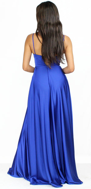 Perfect For You Satin Royal Blue Formal Gown