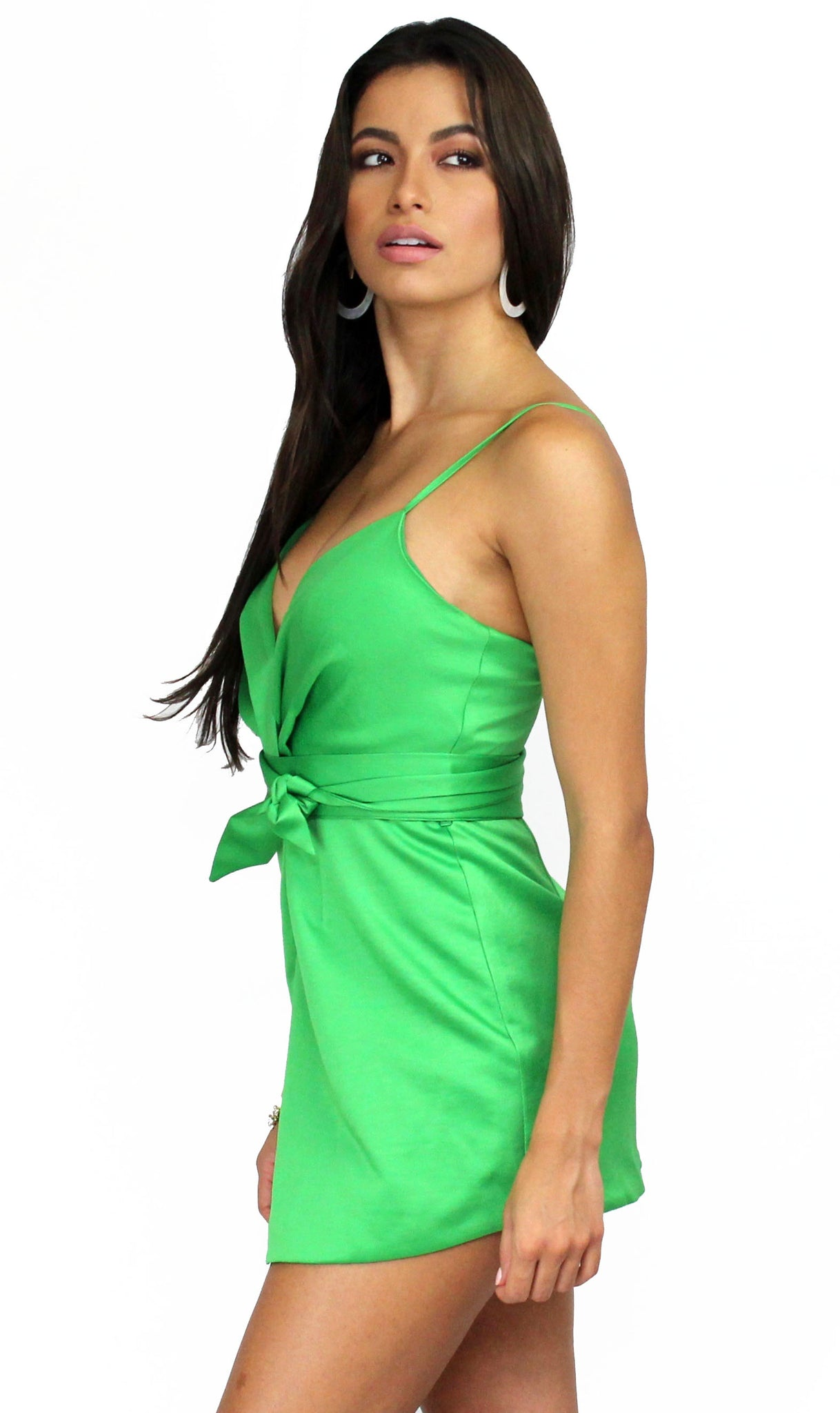 Extracurricular Way Green Satin Romper