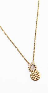 Feeling Tropical Gold Pineapple Necklace