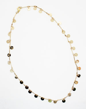 Pretty Raindrop Gold Necklace