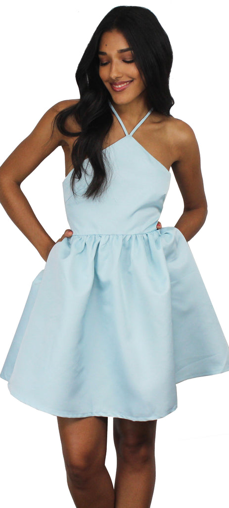 Call to Charms Sky Blue Skater Dress