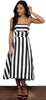 SJP Style of Stripes Strapless Midi Dress