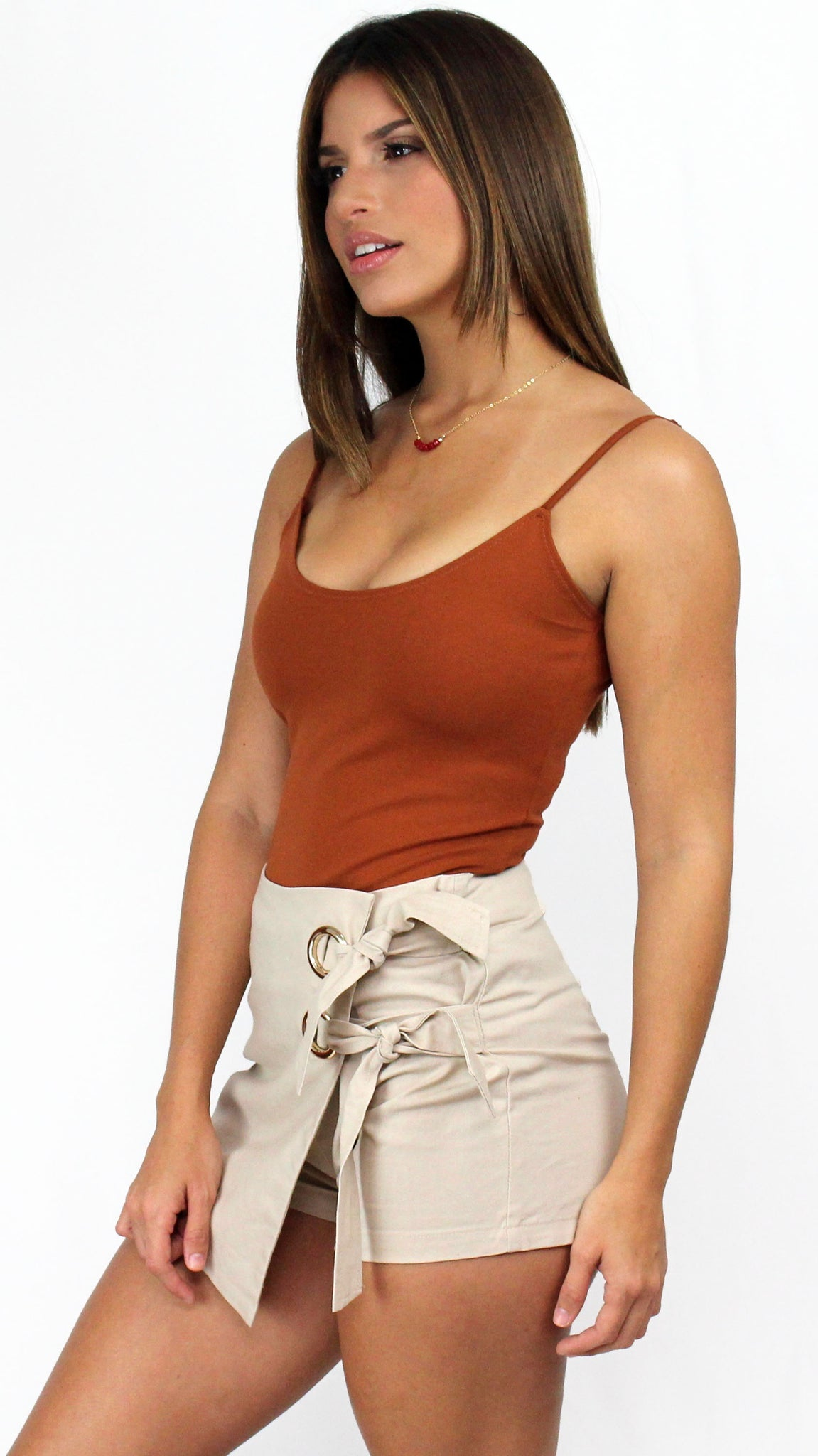 Closer To You Basic Rust Bodysuit