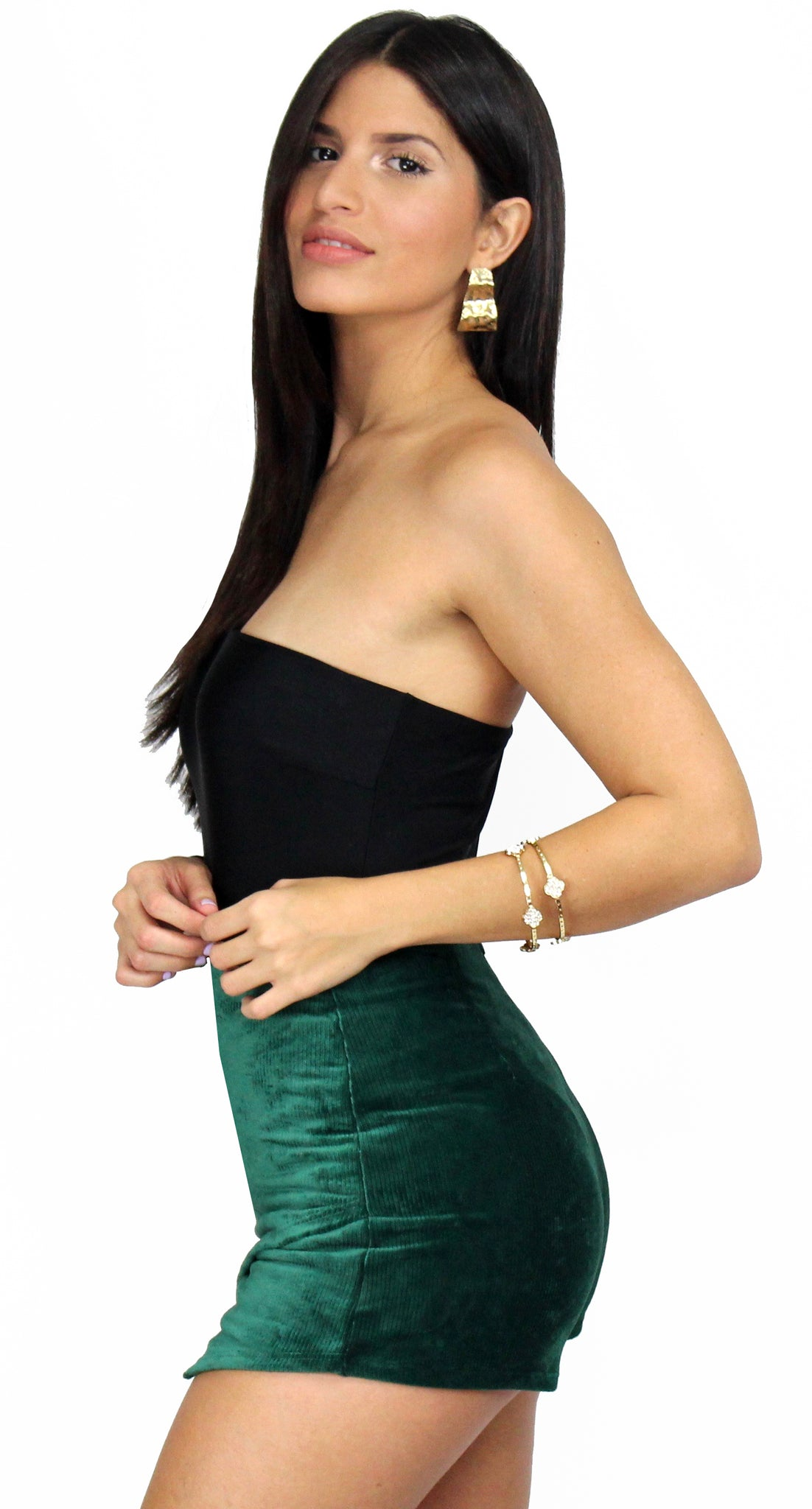 So Easy in Black One-Shoulder Bodysuit