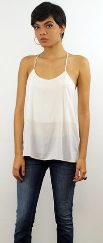 White Simple but Cute Top