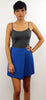 Royal Blue One Side Plated Skirt