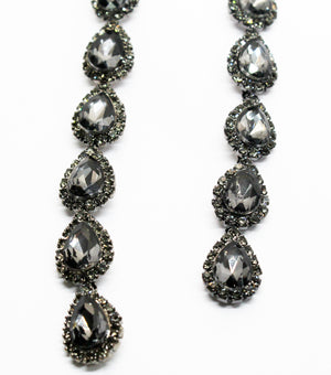 Realized Potential Black Rhinestone Earrings