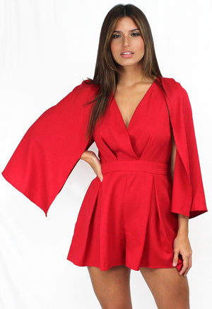 Ready for it with Red Cape Romper