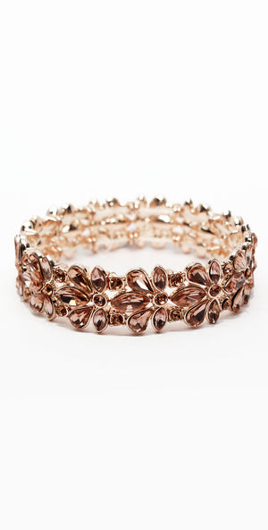 Just a Touch Rose Gold Rhinestone Bracelet