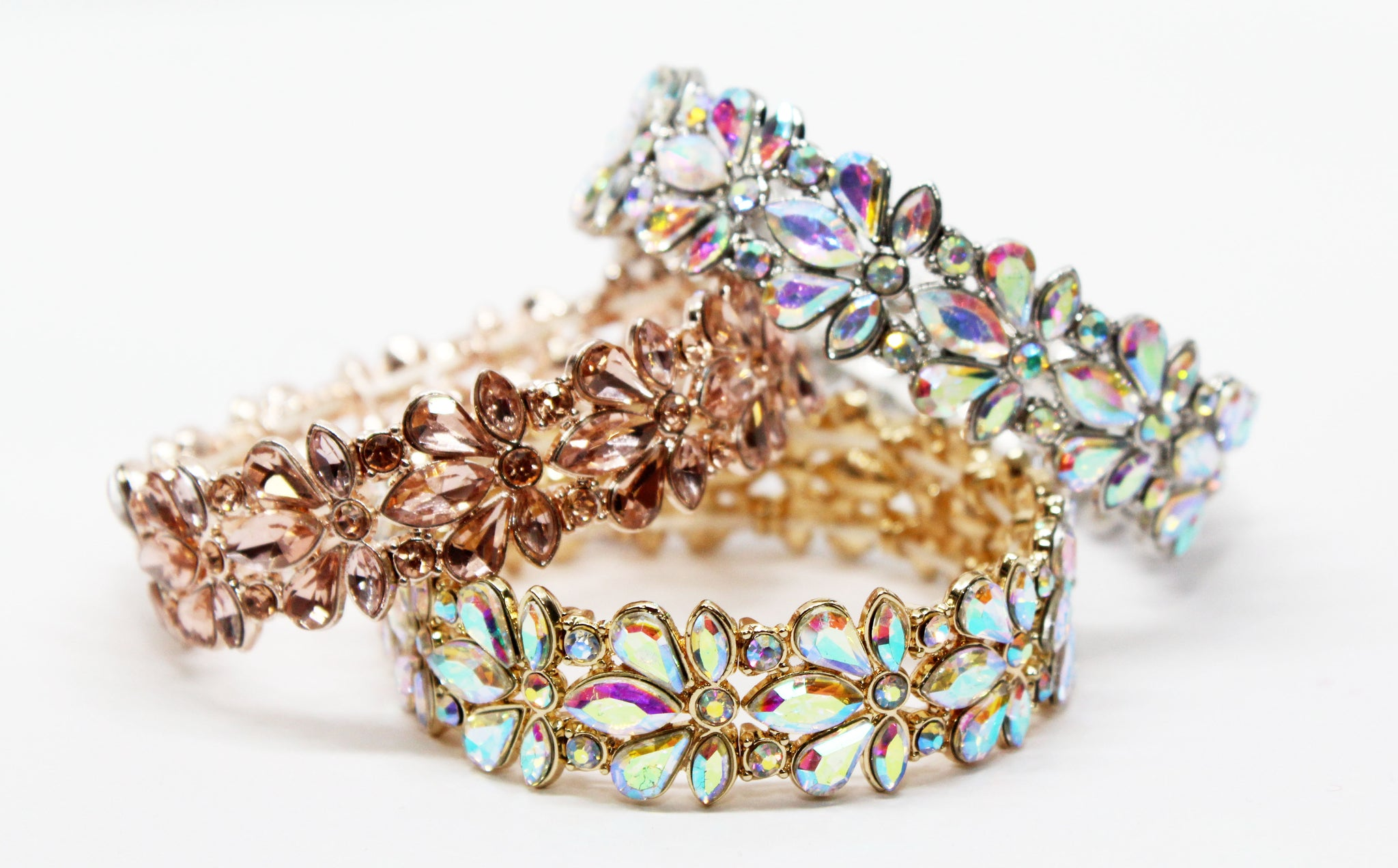Just a Touch Gold Rhinestone Bracelet