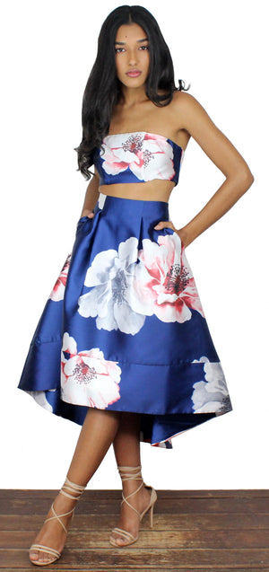 Love for Spring Navy Floral Two-Piece Set
