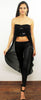 Photo Ready Black Sequins Maxi Crop Top