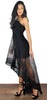 Kiss the Sky Black High Low Dress