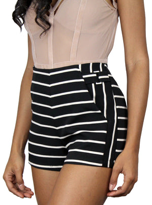 Wreck-Reational Black Stripes Shorts