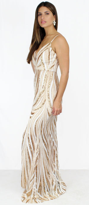 Infinitive Dream Nude Sequins Formal Gown