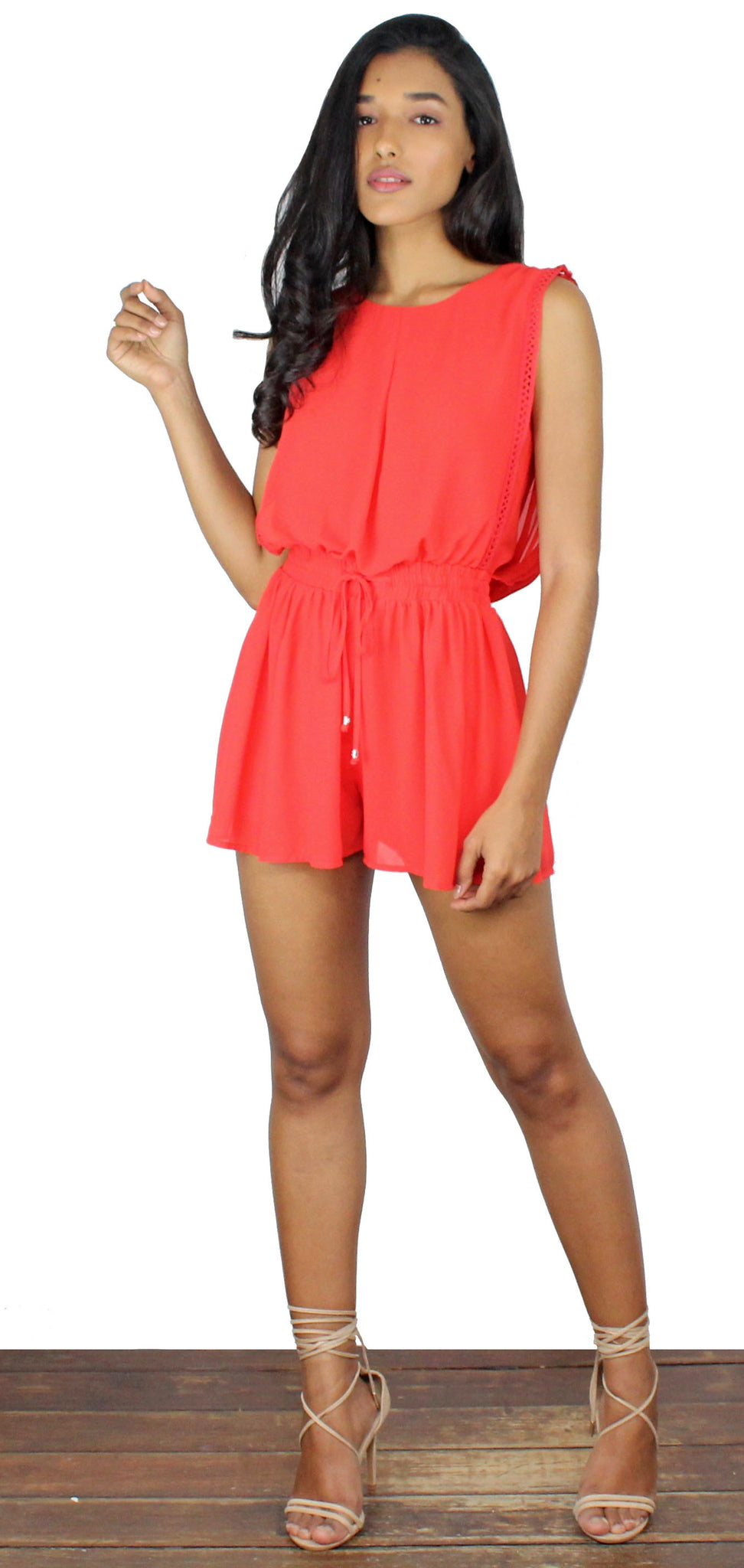 Learning to Fly Coral Romper