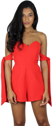 Eternal Joy Red Stapless Romper