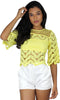From a Day Dream Yellow Lace Top