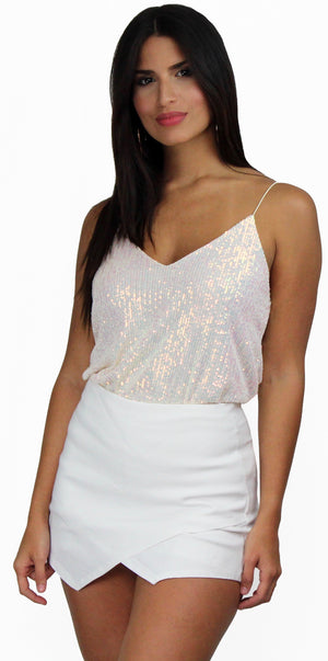 Evening of Wonder Holographic Sequins Top