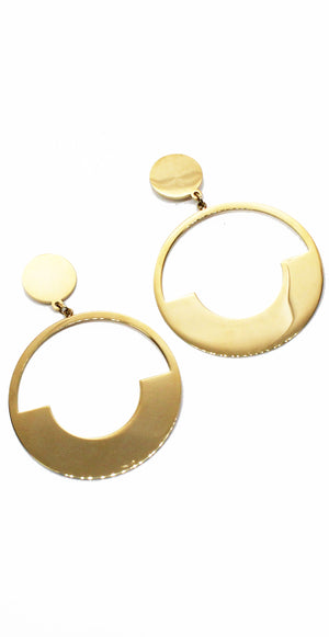 Current Fave Gold Statement Earrings