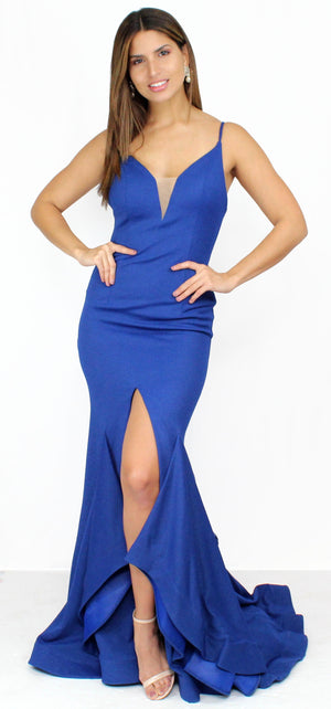 Feeling Divine Royal Ruffle Formal Gown