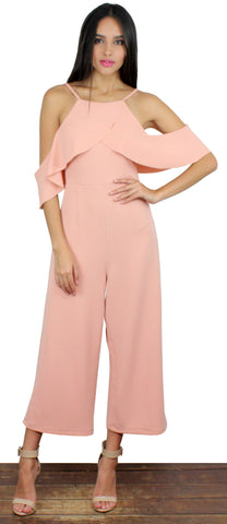 Sea What I Mean Blush Midi Jumpsuit