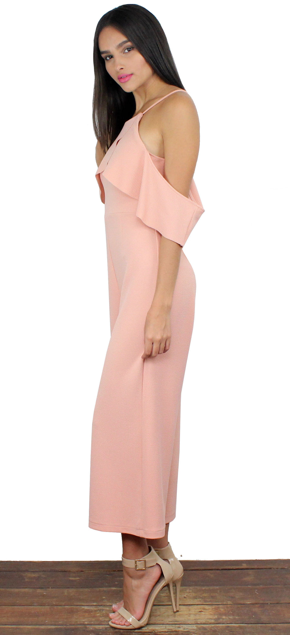 See What I Mean Blush Midi Jumpsuit