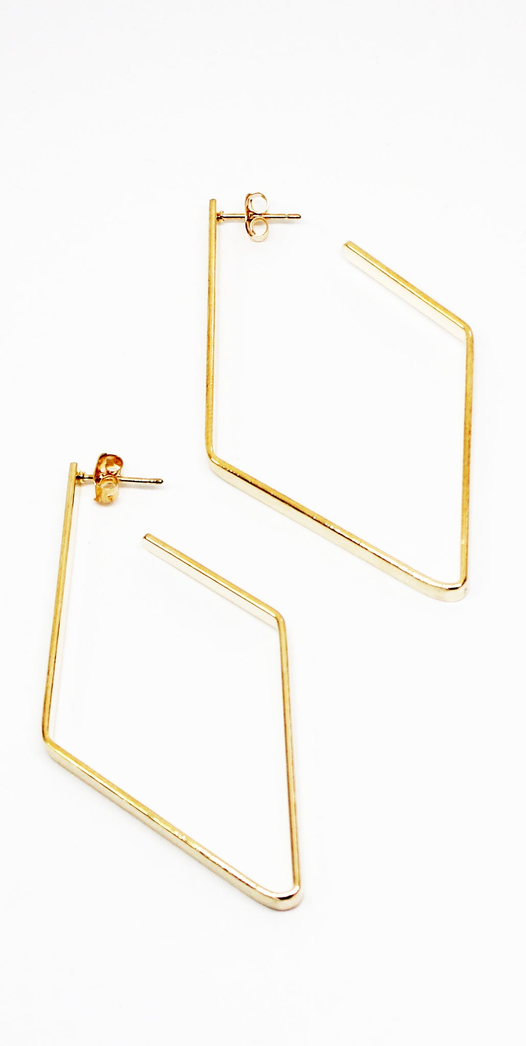 Free Thinker Gold Diamond Hoop Earrings