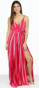 San Tropez Palazzo Red Stripes Jumpsuit