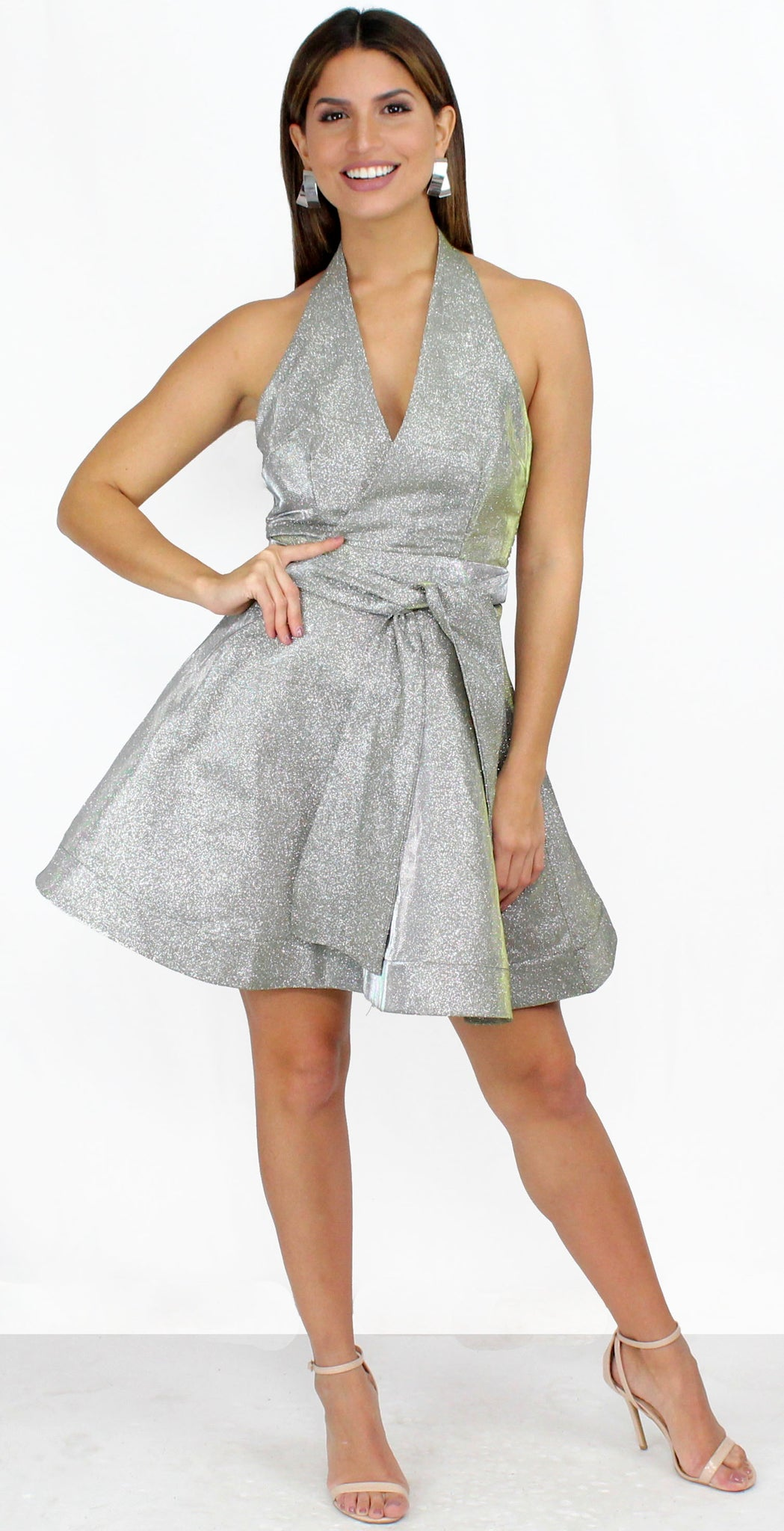 Loving You is Easy Glitter Flare Dress