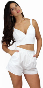 Sweet as Ever White Two-Piece Set
