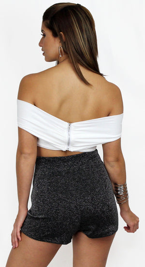 Taking Chances Ivory Crop Top