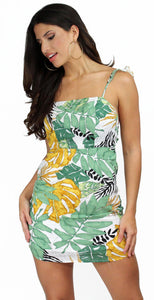 Into the Summer Forest Vibe Print Dress