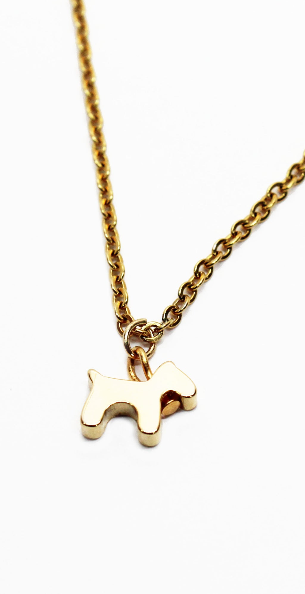 Dog Lover Gold Necklace