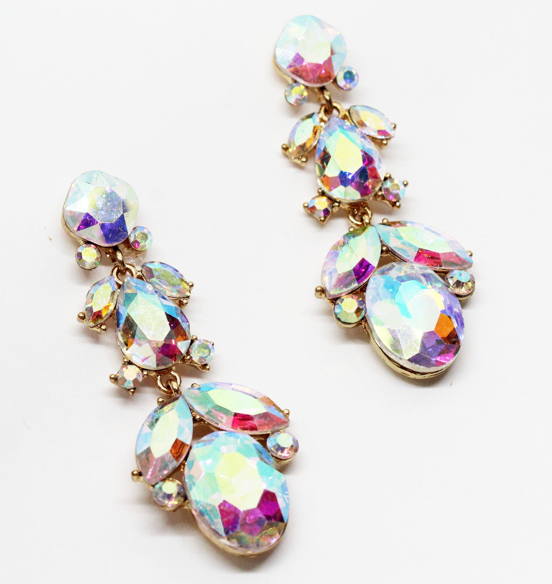 Realized Gold Holographic Stones Earrings