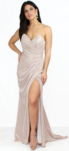 Falling Star Mauve Shinny Formal Gown
