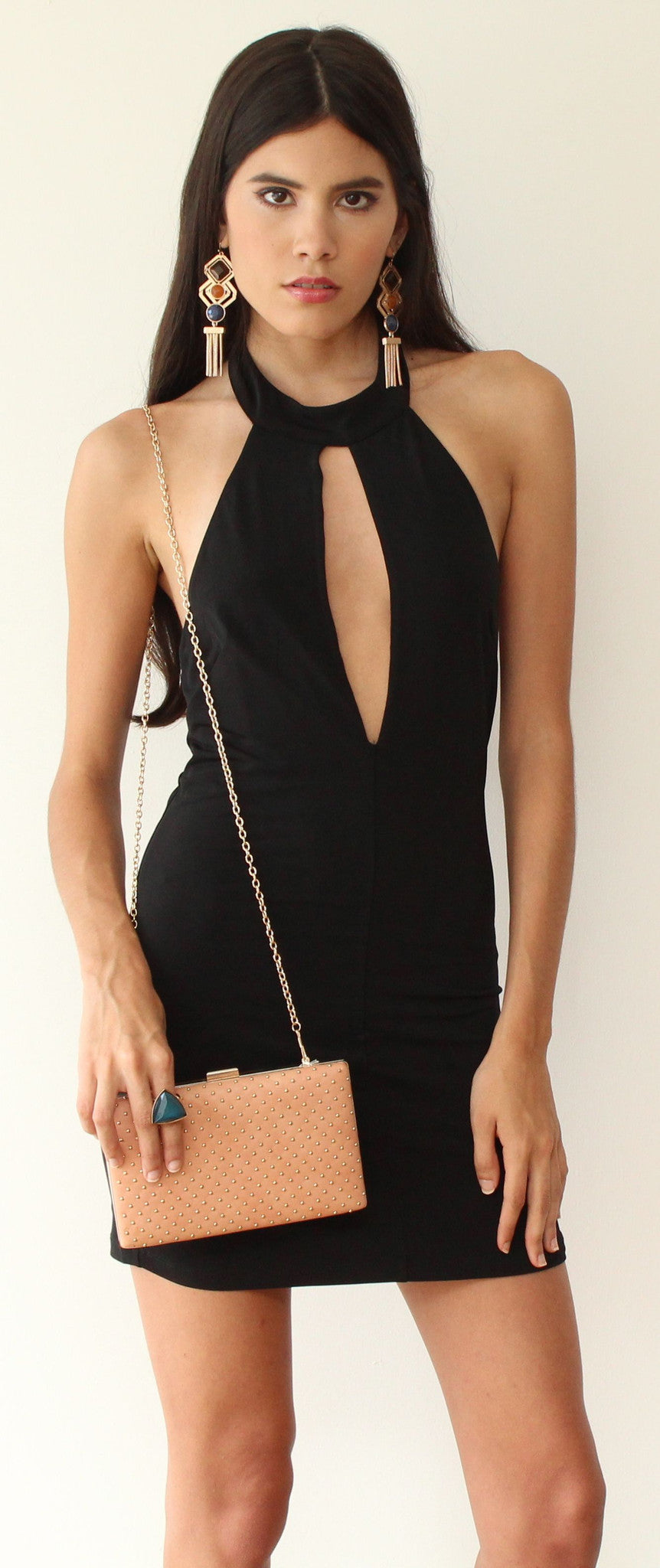 She's a Dream Black Bodycon Dress