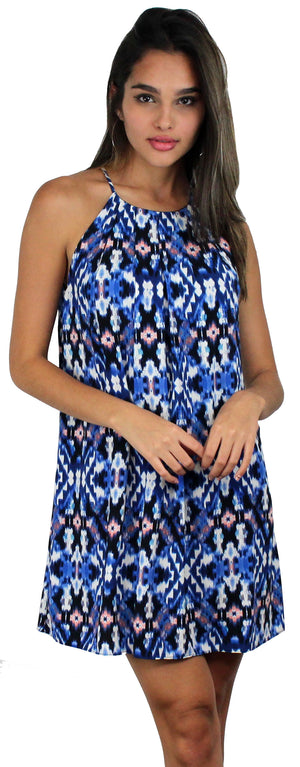 Stevie Sunday Blue Print Shift Dress