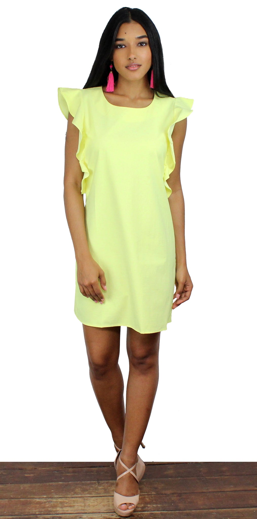 Perfect Time Yellow Shift Dress