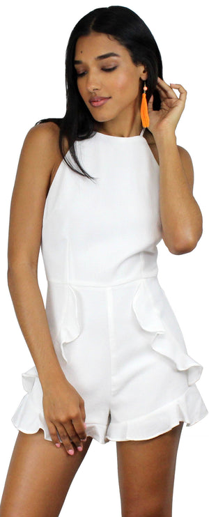 089c1578b4a0 Sunny Melody White Ruffle Romper – Zil boutique