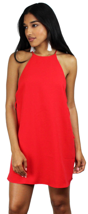 Weekend Game Red Shift Dress