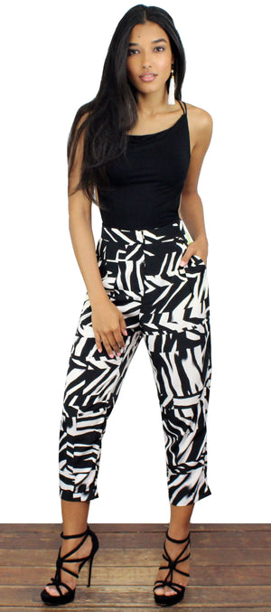 All Day in Abstract Black & White Pants