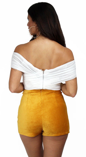 Out All Night Drape Off-Shoulder Bodysuit