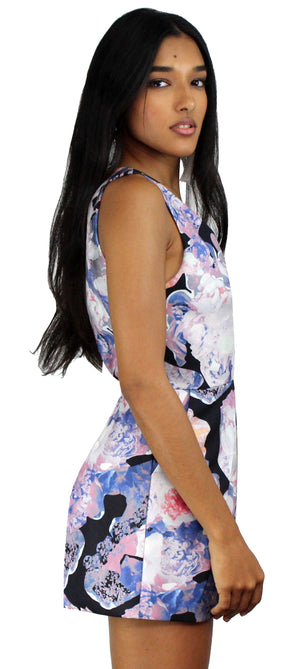 Confession Midnight Print Romper
