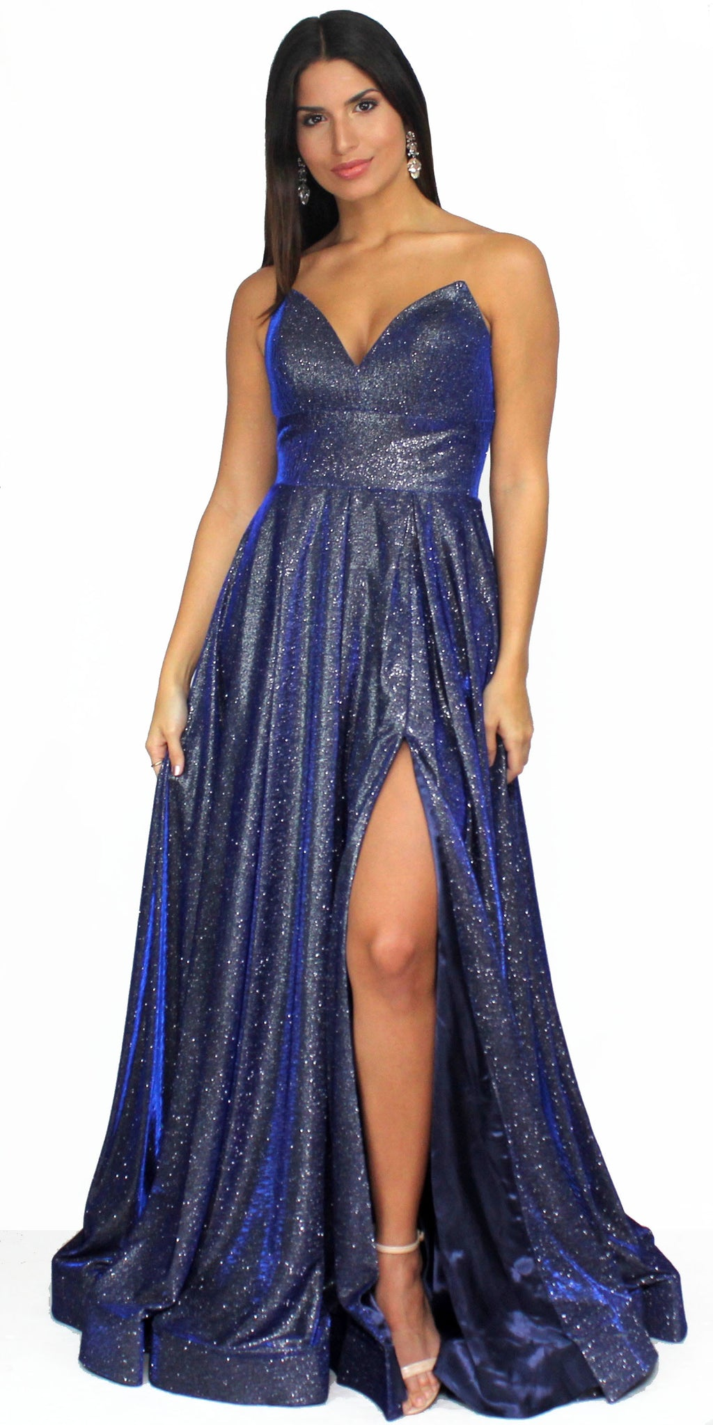 Royal Showstopper Shimmer Dark Royal Ball Gown