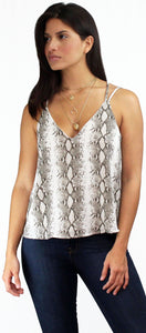 Natural Spirit Snake Print Straps Top