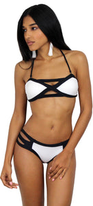 Glamorous at the Sand White & Black Bikini