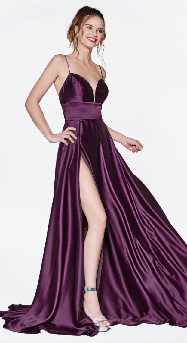 Lots of Glam Satin Bridesmaid Dress