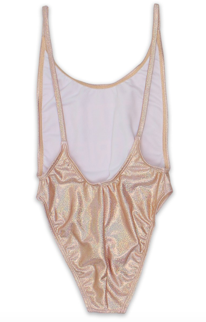 Getting Married Rose Gold One Piece Swimsuit